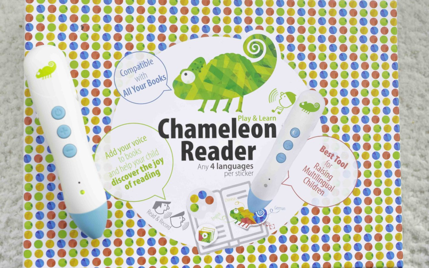 The Chameleon Reader set includes everything you need to get started.