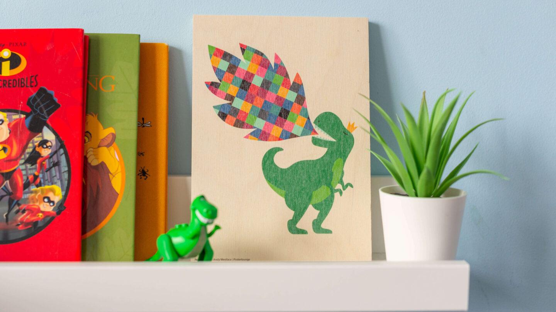 Posterlounge Rainbow Dinosaur
