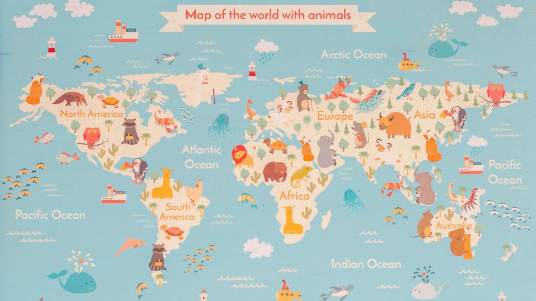 Posterlounge Map of the World Wallart